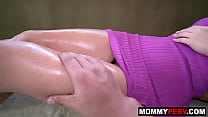 Stepmom asks son for massage 8 min