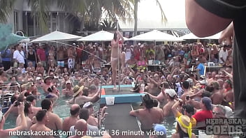 swinger pool party during nudist festival in florida 15 min