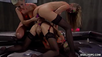 Lingerie models Tiffany Tatum and Nancy Ace having lesbian threesome with Subil Arch