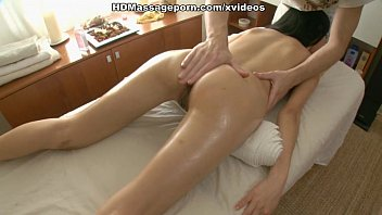 Young Asian has massage with plenty of oil and moans of pleasure