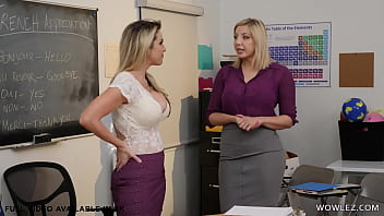 French teachers having lesbian sex - Kayla Paige and Sophia Deluxe