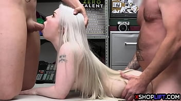 Rough cops fucked hot big ass thief Haley Spades after she stole big dildo
