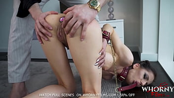Hot Submissive Babe with Diamond Butt Plug gets Her Hot Ass Spanked Hard BDSM -WHORNYFILMS.COM