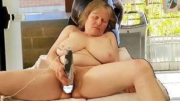 Big Tit Grandma CUMS like a monster