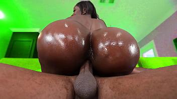Black milf with a huge fake ass gets fucked hard - ebony hardcore porn 5 min