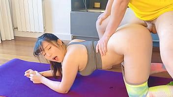 OBOKOZU - Yoga Wife Gets Surprise Sex - Pervy Husband Fucks Japanese Hotwife - Find us on Onlyfans!