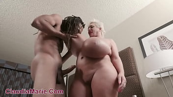 Fat Ass Claudia Marie Has Fake Tits Worked Hard By Black Stud