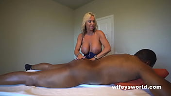 Busty Blonde MILF Sucks And Strokes BBC And Swallows Every Drop 5 min