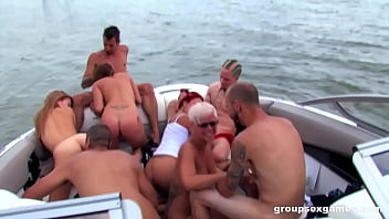 Summer group fuck on a Boat 10 min