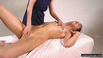 Untouched body of Natasha Benie being massaged