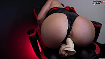 Ryuko Matoi Fucks Herself with Huge Dildo in Pussy and Mouth