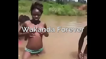 Wakanda women bathing Naked in the river of life