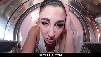 Mom Stuck in Laundry Fucked by Son - Artemisa Love   MYLFEX.com