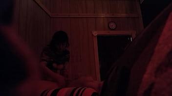 busty mature asian reveals big tits and gives me a handjob massage