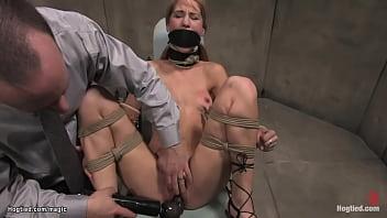 Doctor fucks bound patient with machine