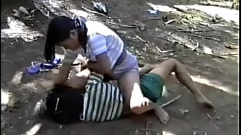 A feast of outdoor female Asian wrestling