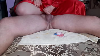 Jerking off a big dick with massage oil to an epic finale!
