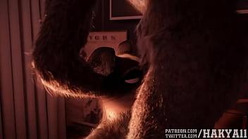 Furry hakya11 animation sudden loud noises HD