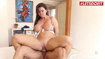 LETSDOEIT - (Chloe Lamour, Angelo Godshack) - Huge Tits MILF Tricks Her Landlord Into A Quick Fuck Full Scene
