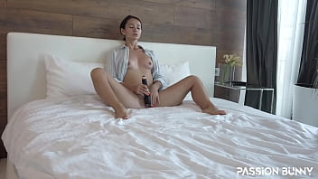 Homie girl play with new toys and her tight gentle pussy until long-awaited orgasm - PassionBunny