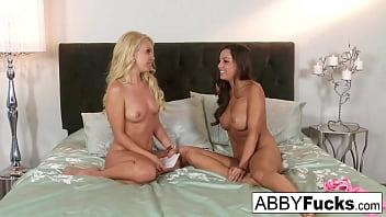 Aaliyah Love interviews Abigail then watches her masturbate