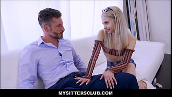 Tiny Blonde Teen Babysitter Seduces Client To Keep Her Job - Scarlett Hampton, Artemisia Love, Jack Vegas