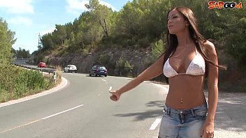 Busty Hitchhiker Fucks For a Ride
