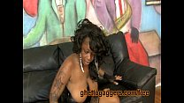 Thick Black Stripper Swallows White Dick