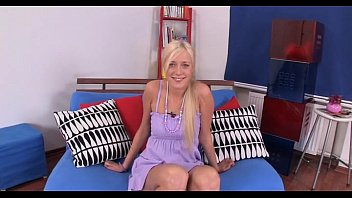 Legal age teenager blond