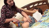 Horny teenager gets caught toying her pussy 10 min