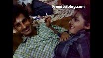 Desi Girl and Boy Enjoy in Hotel Room With Hindi Audio