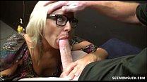 Horny Blonde Milf Cock Sucking