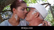 Big dick oldman fucks his much y. sexy girlfriend