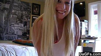 Dagfs - Young Blonde Teasing With Her Webcam In Her Bedroom
