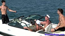 Gay sailor outdoor orgy with Chip Young