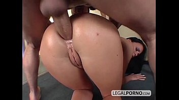 Two horny brunettes fucked hard in the ass MG-3-02