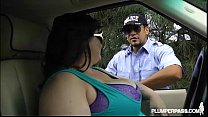Big Tit BBW Bille Austin is Pulled Over and Fucked By Cop