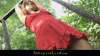 y. slave driven in the forest for bondage and fuck