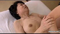 Mature Woman With Hairy Pussy Fingered And Licked By Young Guy On The Mattress