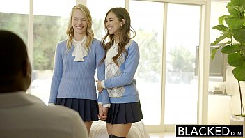 BLACKED Two Teen Girls Share a Huge BBC 10 min