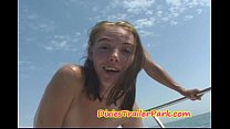 Milf and Teen Daughter FUCK on Daddys BOAT