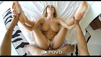 HD - POVD Blonde Natalia Starr soaps up her body for big cock