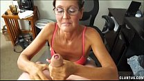 A Naughty Mature Lady Sucks And Jerks