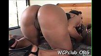 Hottie sucks dick before getting it inside of bald pussy