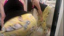 white girl shakes ass in spongebob pants - MYSLUTBOX.com