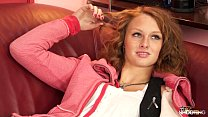Fakeshooting - Seductive redhead gets her pussy fucked in casting