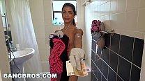 BANGBROS - Petite Latina Cleaning Lady Veronica Rodriguez Takes a Big Dick