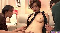 Akina Hara gets two men to fuck her hard  - More at Slurpjp.com