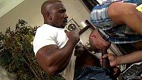Bareback interracial sex in the office - Adrian Cortez and Max Konnor