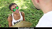ExxxtraSmall - Petite Ebony Bounces On A Stiff Big Cock